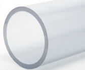 Transparent PVC-rör 63mm PN10 - 50cm